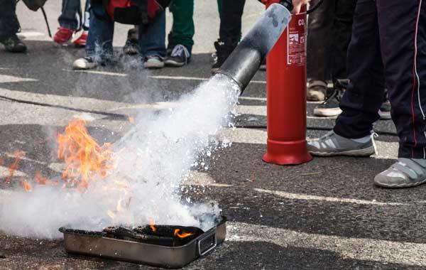 exercice feu formation sécurité incendie EPI